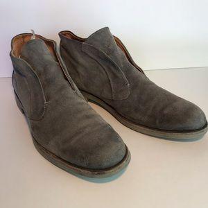 John Varvatos suede chucka boots. 10.5